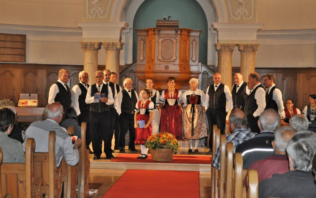 Kirchenkonzert des Jodelklub Rorschach